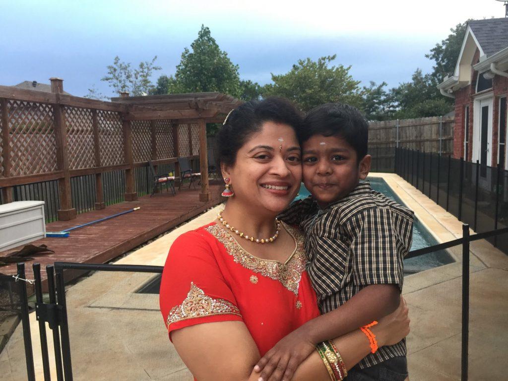 Pradeepa with Kartik